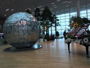 仁川空港にて