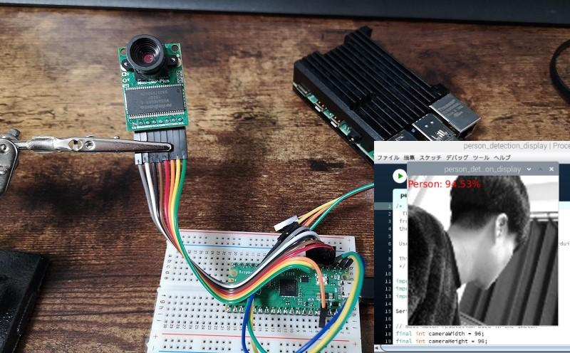 【Raspberry Pi Pico】カメラを使って人検出プログラムを動かす【Tensorflow Lite】