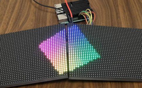 【Raspberry Pi】マトリックスLEDを制御する(64×32)